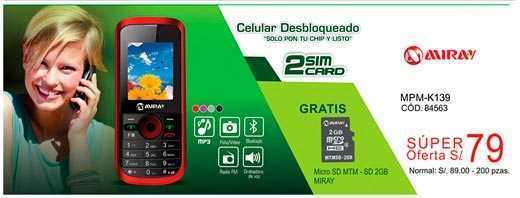 Ofertas de celulares libres en Perú