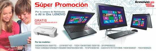 Ofertaas de notebooks y all in one