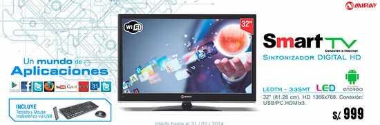 Televisores smart en ofertas de Perú