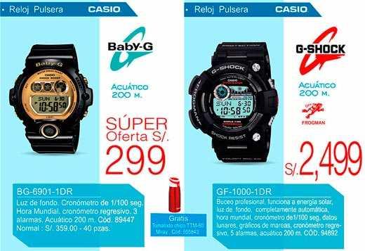Los relojes Casio a buen precio