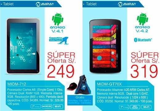 Android tablets de alta calidad