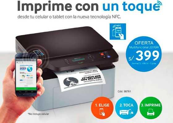 Catálogo de impresoras Samsung