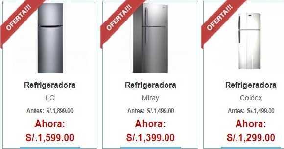 Ofertas de refrigeradoras en Hiraoka