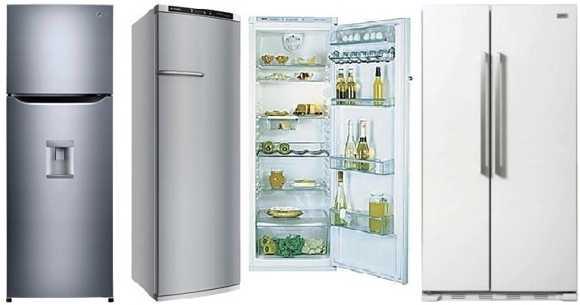 Diferentes tipos de refrigeradoras