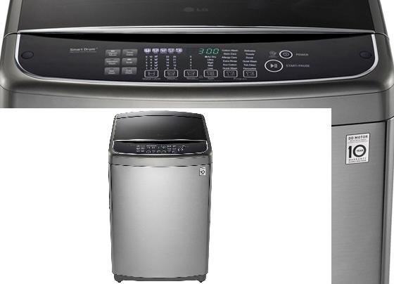 Lavadora de ropa LG con capacidad de 13 kg, de carga frontal