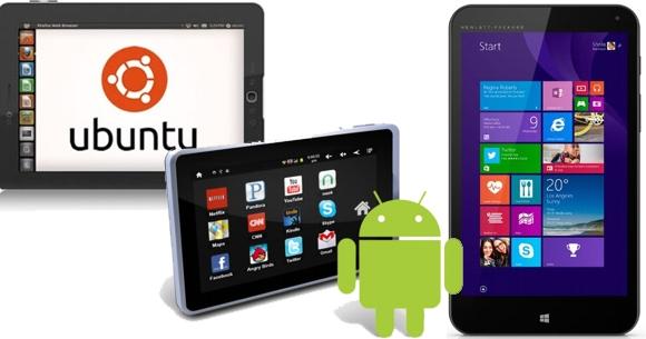 Hiraoka tablets con distintos Sistemas Operativos