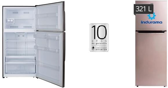 Refrigeradoras modernas Indurama 321 lt.