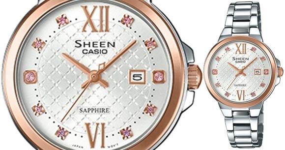 Elegante reloj plateado mujer