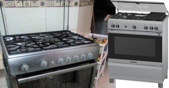 Cocina a gas Bosch de 5 quemadores