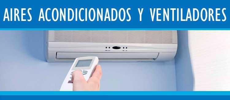 Aires acondicionados Hiraoka ventiladores