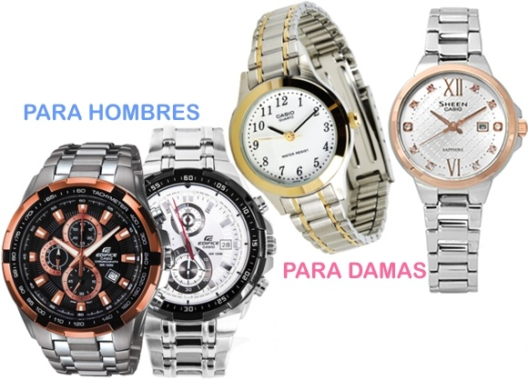 Relojes elegantes de dama y caballero